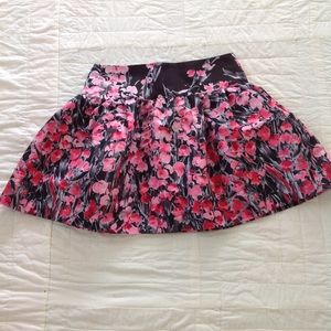 Red Valentino Floral Skirt
